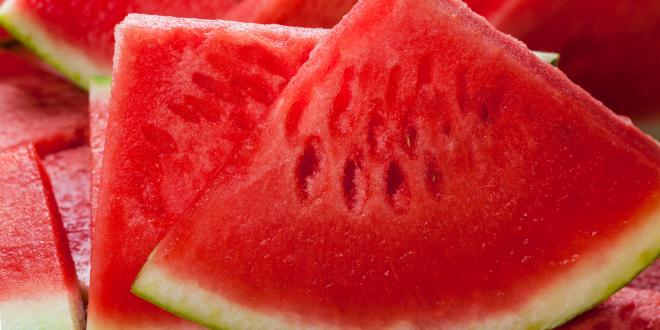 a juicy sliced watermelon